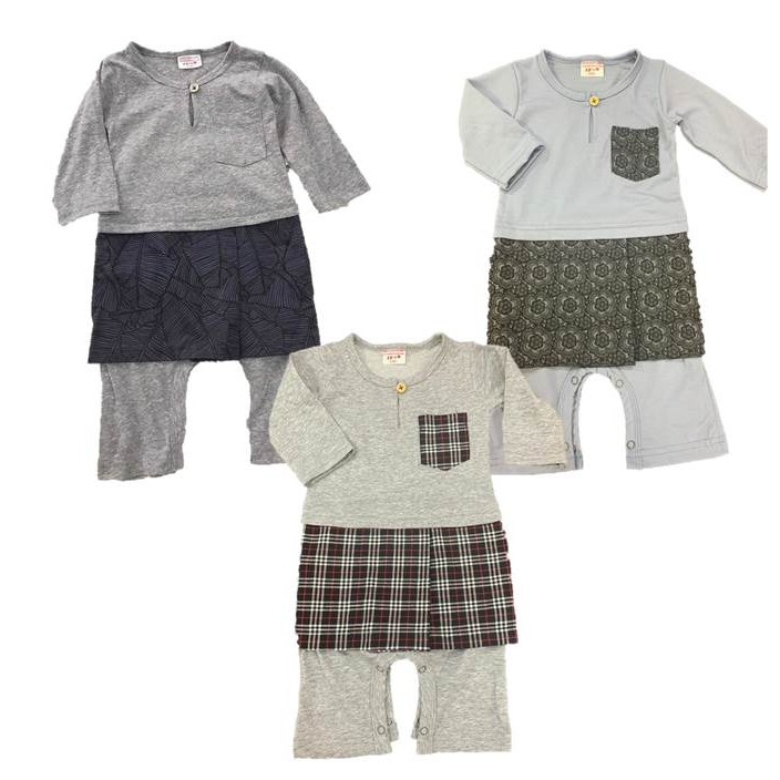 d9d9a068169 Jumper / Romper Baju Melayu Baby with Sampin by FIRSTCUTEBABY COLLECTION