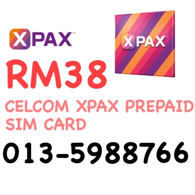 Celcom Xpax Prepaid Sim Card 013-5988766