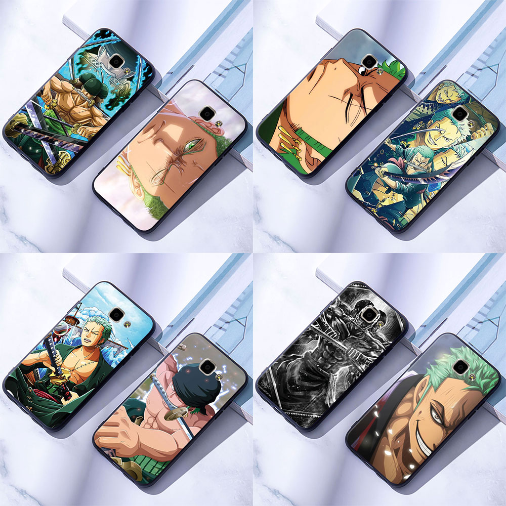 Samsung Galaxy A5 A7  2016 2017 Soft Silicone Case Cover One Piece Roronoa Zoro