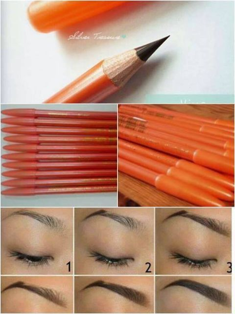 Viva Eyebrow Pencil Warna Coklat Gelap