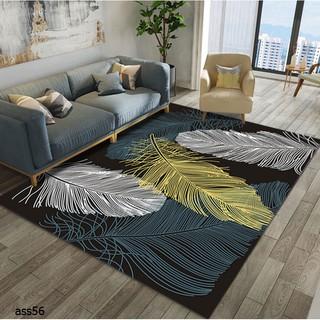 GuZee Home Carpet Karpet Rug Modern Feather Printing Carpets for Living Room