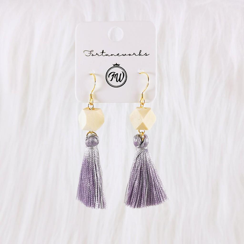 FORTUNEWORKS Fashion Elegant Geometrical Hypoallergenic Dangle/Hook Earrings Gold Black Red Light Brown Crystal Pearl