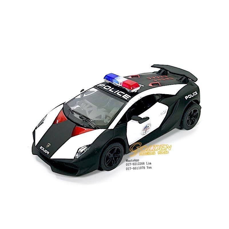 Kinsmart Lamborghini Sesto Elemento Police Car 1 38 Scale Diecast