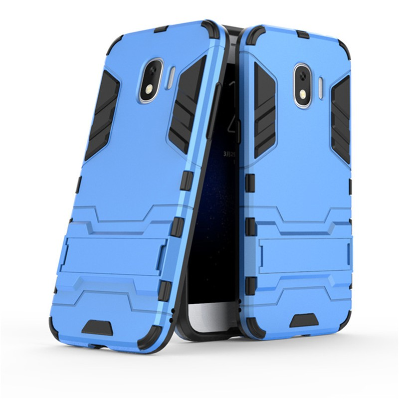check out e8be1 4f7be Samsung Galaxy J2 Pro 2018 Hard Case Full Cover 2 in 1 Holder Stand Casing