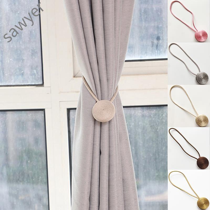 Curtain Holder Magnet Buckle Tieback Magnetic Strap Tie-Backs Decor Home Hotel