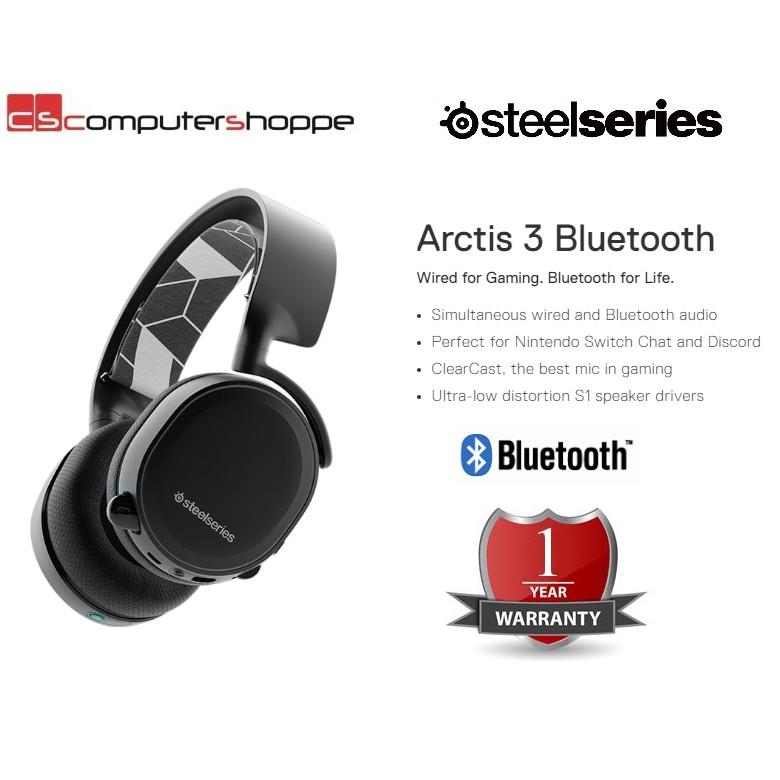 😍9 9😍SteelSeries Arctis 3 Bluetooth Headphone
