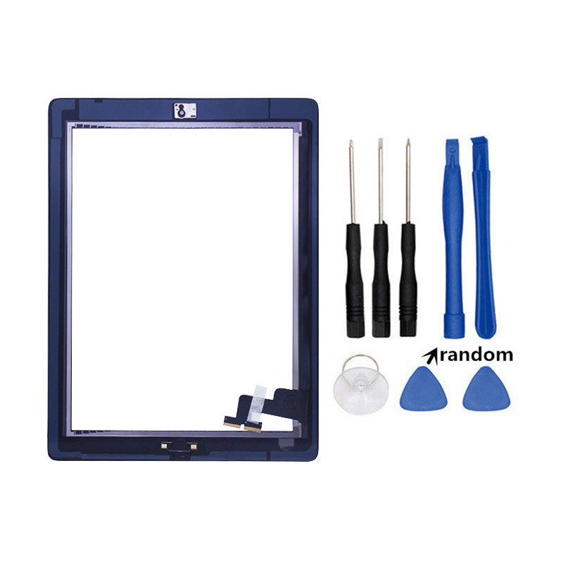 Home For iPad 2  Black A1395 A1396 A1397 Touch Screen Digitizer Replacement
