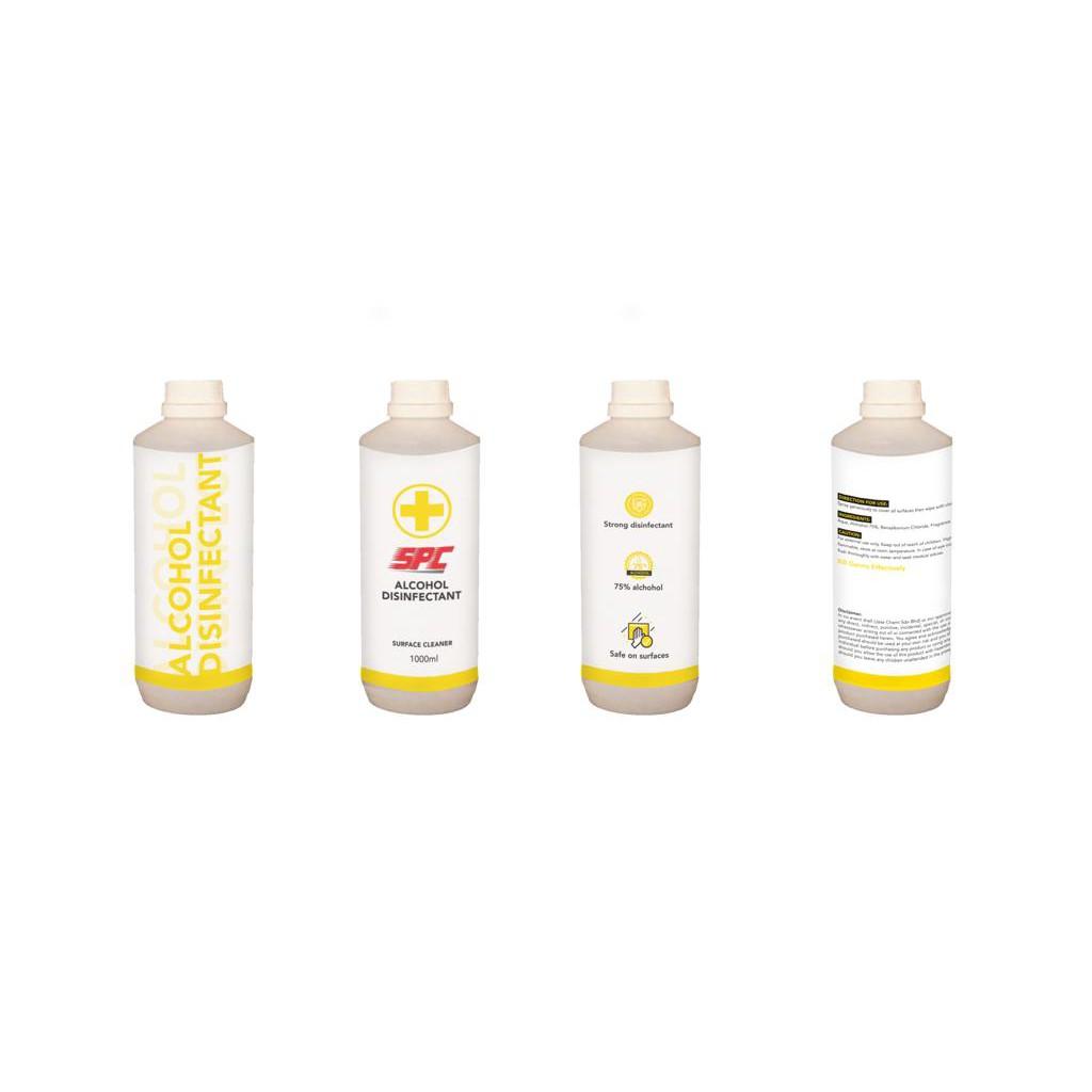 SPC Surface Sanitizer Disinfectant Liquid 75% Alcohol (1L)