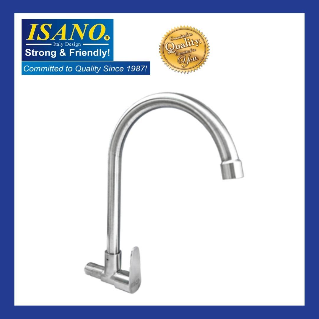 ISANO 1100SS Kitchen Sink Faucet Stainless Steel SUS 304 WALL TYPE