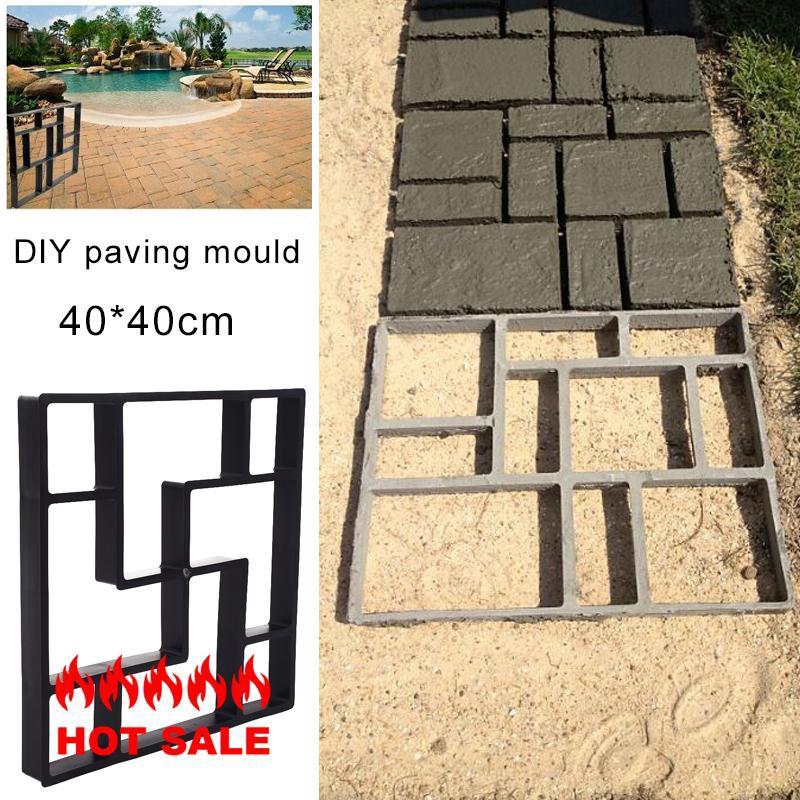 40cm Square Paving DIY Pavement Concrete Stepping Driveway Stone Path Mold  Patio Maker Mould