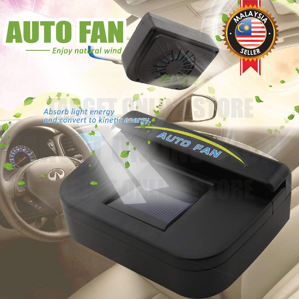 Solar Powered Auto Car Fan Cool Ventilation System Window Rubber Strip