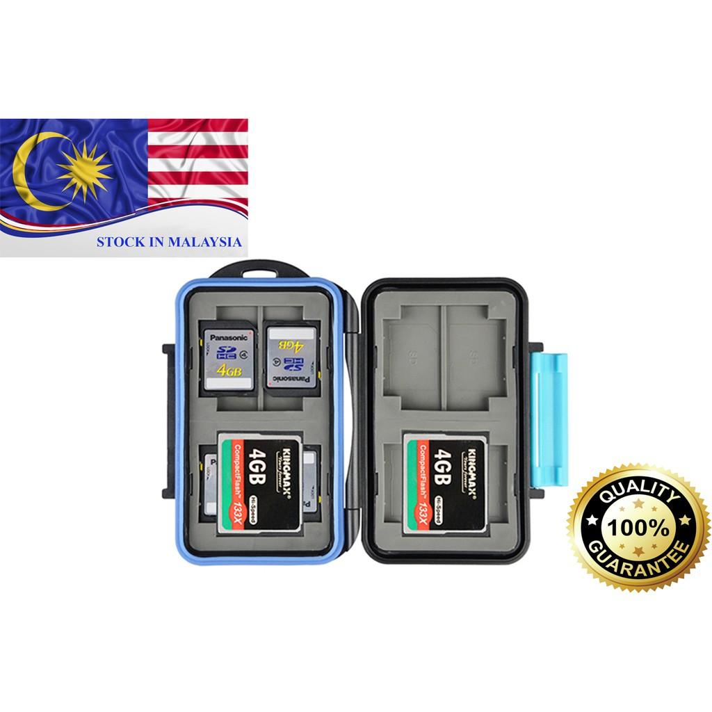 JJC MC2 Anti-shock Waterproof Memory Card Case Holder Hard Storage (Ready Stock In Malaysia)