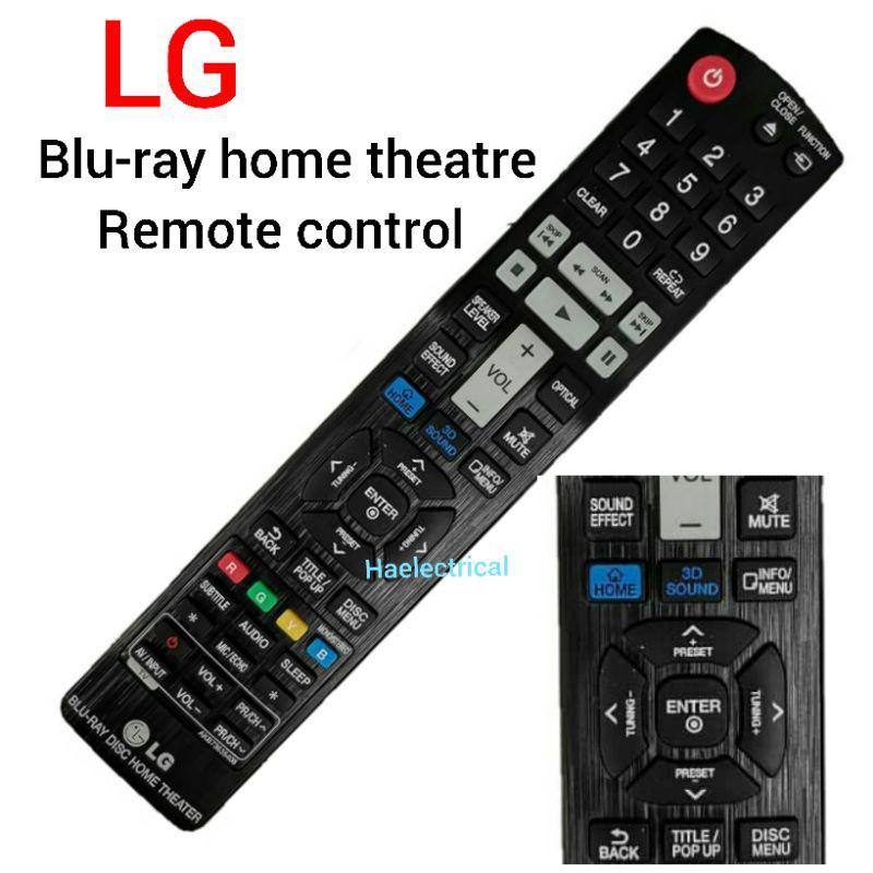 LG Blu-ray home theatre remote control (new)