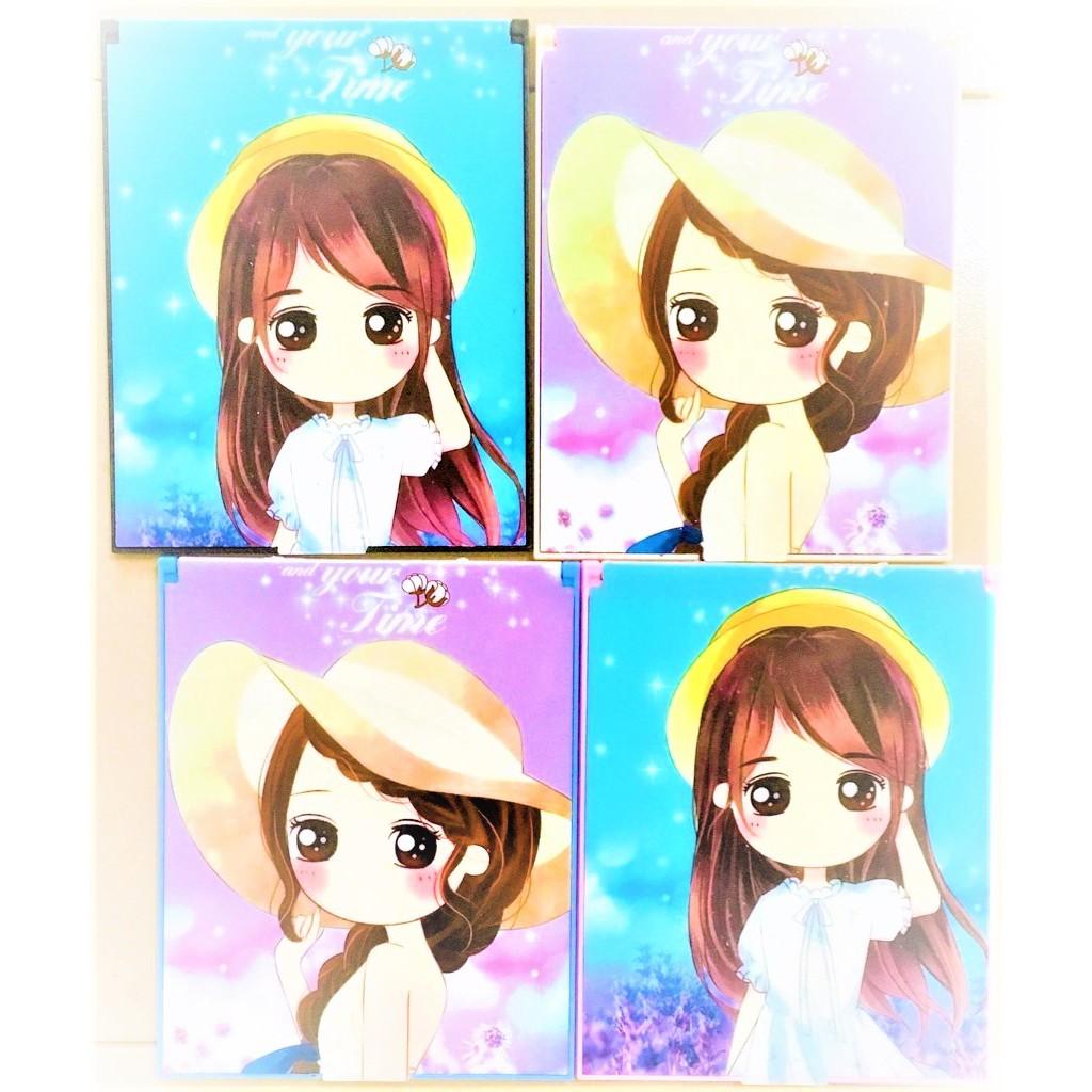 Foldable Mirror Flip Pocket Makeup Cosmetic Mirror Portable Ultra-thin Girl Mirror Rectangular