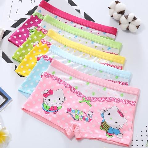 5 Pack Girls Underwear Cartoon Cute Pink Children S Underwear Little Girl Boxer Underwear Baby Child Shopee Malaysia
