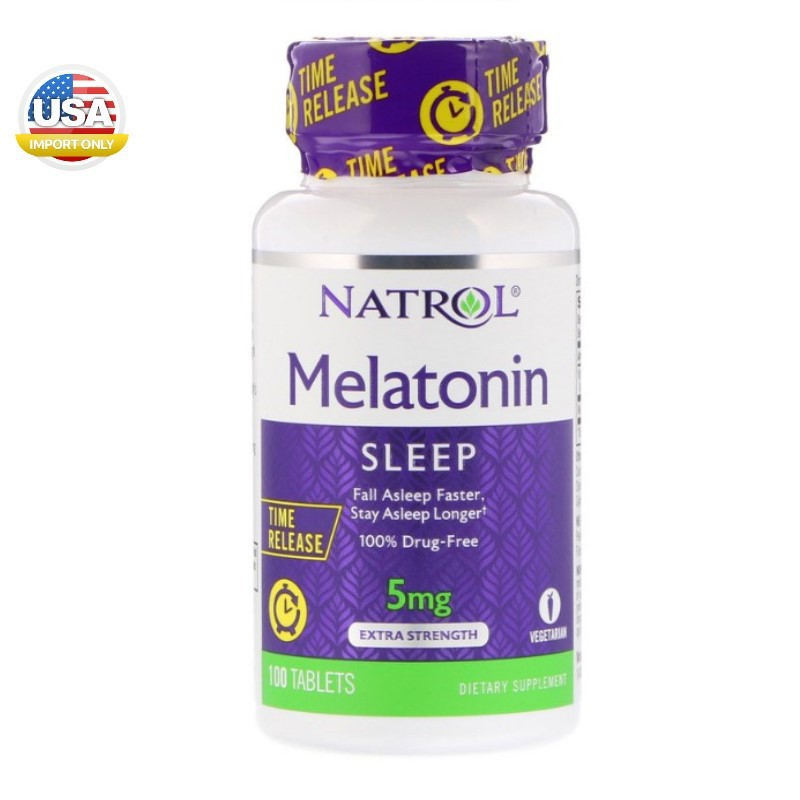 พร้อมส่ง_Natrol, Melatonin, Time Release, 5 mg, 100 Ta