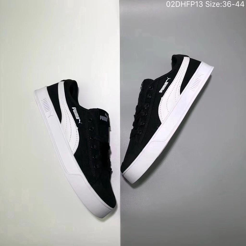 3c62009594 Original Puma Smash V2 Vulc CV men and women canvas shoes flat bottom  sneakers