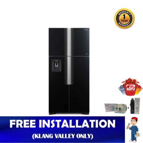 Hitachi 586L Big French Side-by-Side 4-Door Refrigerator R-W720P7M