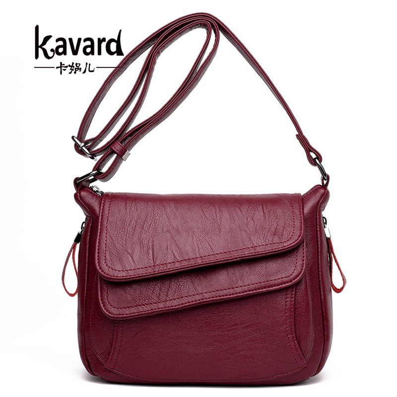 6ccf050c6dd Kavard Women Shoulder Bags Leather Handbag High Quality Sling Bag for Girls  2018