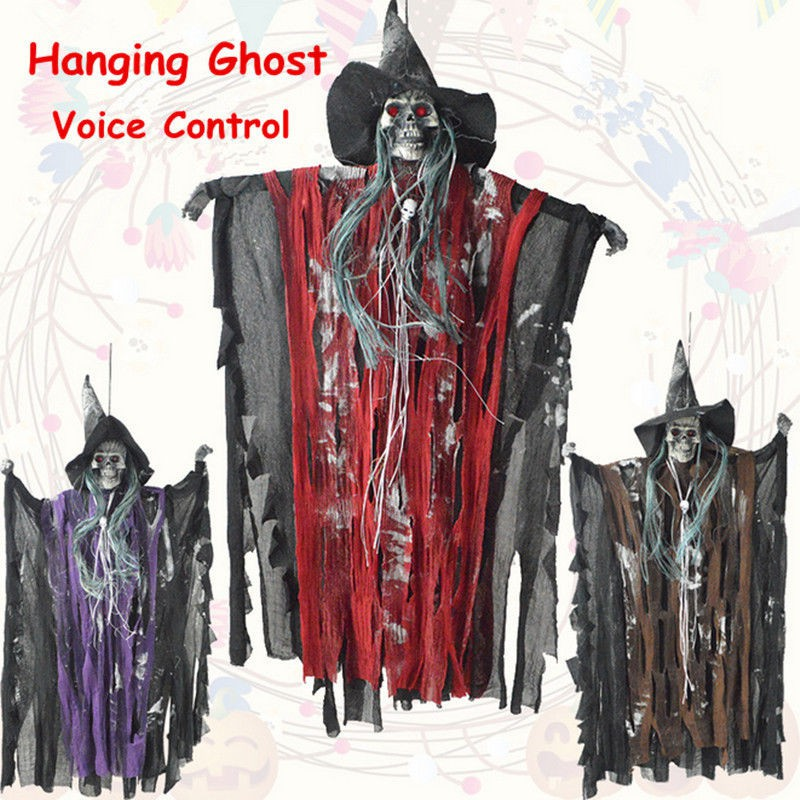Halloween Prop Scary Hanging Ghost Witch Haunted House Bar Party Home Decor