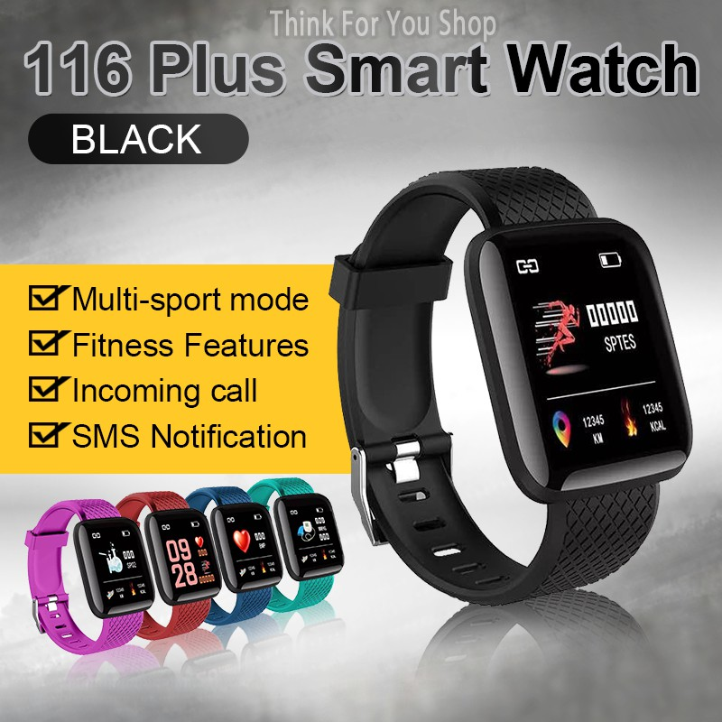 🔥FITNESS WATCH🔥116 PLUS Health Monitoring Sport Watch Smart Fitness  Tracker