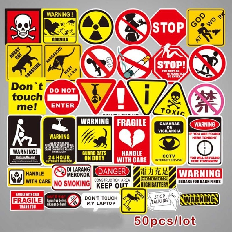 Car Sticker Funny Badge Emblem Decal Danger Do Not Touch Sign Funny Warning
