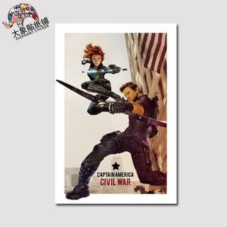 Marvel Heroes Captain America 3 Stickers Hawkeye Black Widow Sticker Trolley Cas