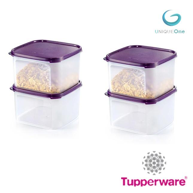 TUPPERWARE MODULAR MATES dewberry  SQUARE II 2.6L (4)