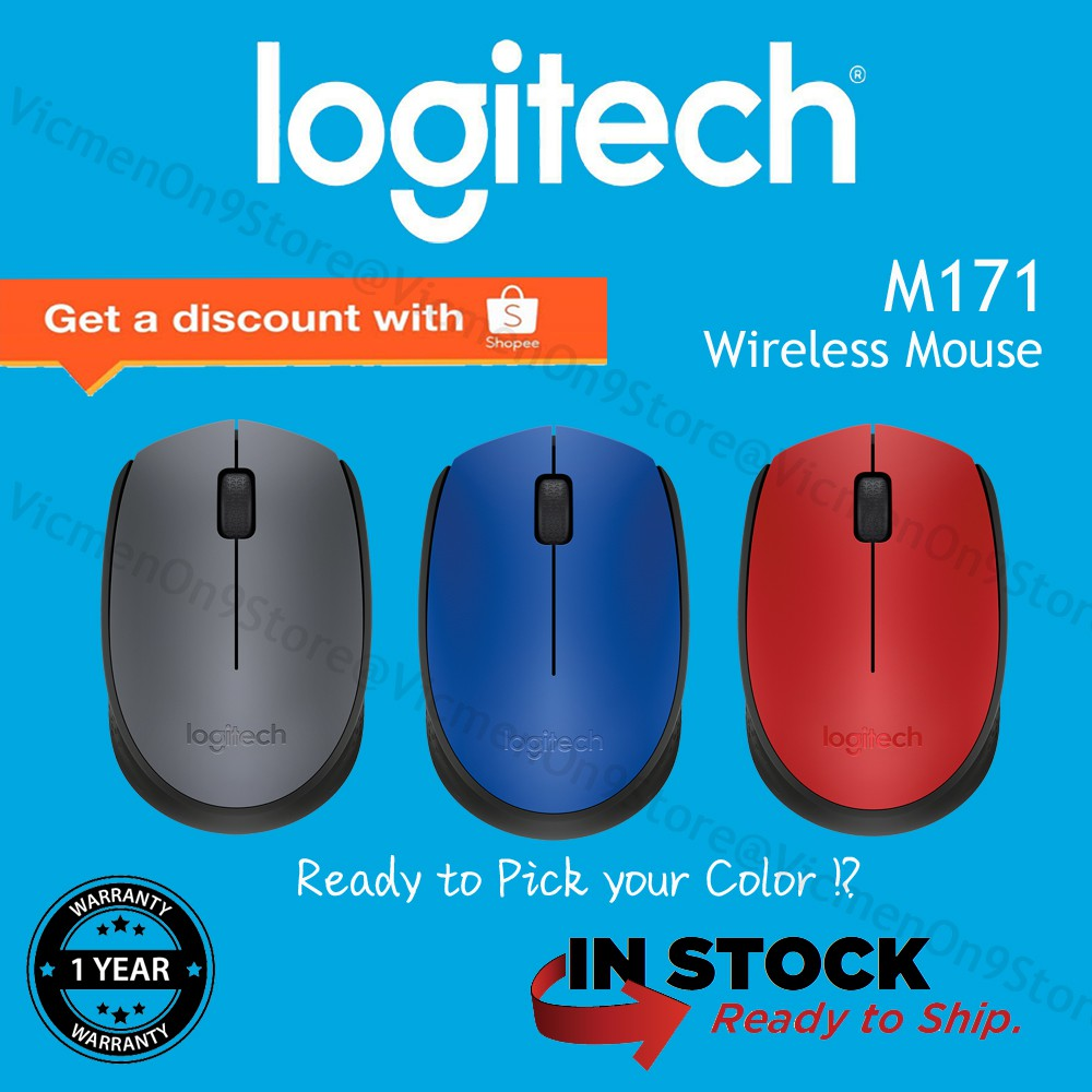 509ffc0648d Logitech M171 Wireless Mouse-Blue | Shopee Malaysia