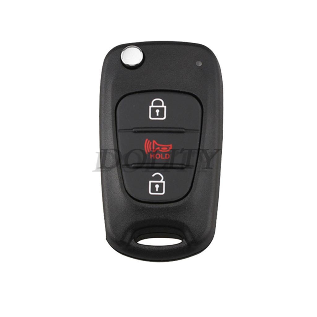 Car Keys, Fobs & Remotes Vehicle Parts & Accessories 3 Button Case Folding Flip   Car Remote Key Shell  For HYUNDAI KIA Soul