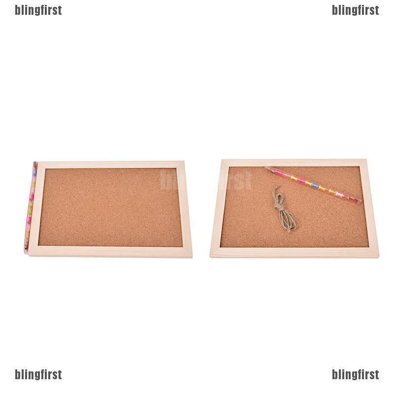 【∮】 Natural Wood Frame Cork Bulletin Board Supplier 20*30cm Home Decorative
