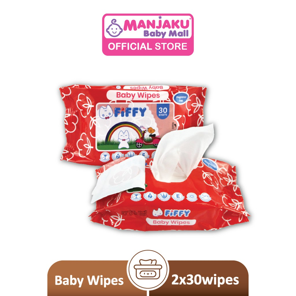 Fiffy Baby Wipes - Red (2 x 30's) 98-520