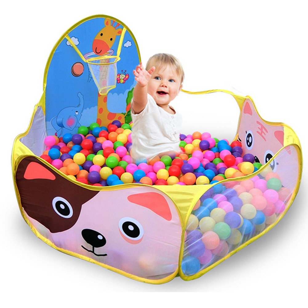 Strong-Willed Cartoon Dolphin Pattern Baby Ball Pit Foldable Washable Toy Pool Children Hexagon Ocean Game Play Tent House Baby Playing Pool Activity & Gear Mother & Kids