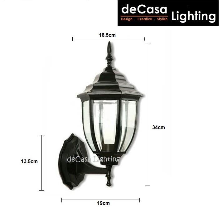 Decasa Lighting Outdoor Wall Light / Outdoor Pillar Light / Outdoor Pendant Light / Lampu Luar / 户外灯 (5018)