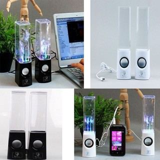 1 Pair LED Dancing Water Wireless Bluetooth Stereo Speaker iPhone