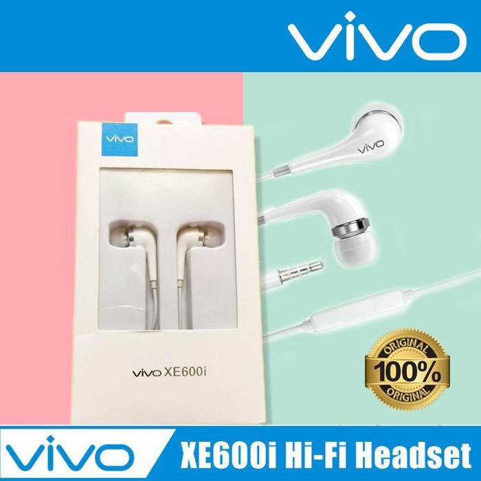 VIVO XE600i Earphones With Mic 100% ORIGINAL 3.5mm Stereo Headphone In-Ear Earphone With Mic