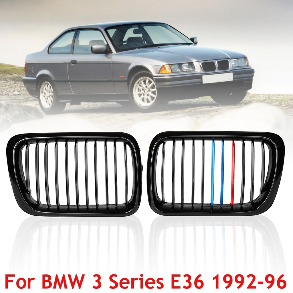 fa3fa71e8e6 2Pcs Set Front Kidney Hood Grilles Grills For BMW E38 740i 740 750iL 4Door  98-01