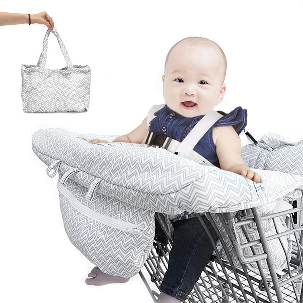 *SHIP 1DAY from MALAYSIA* Foldable Baby Kids Shopping Trolley Cart Hygine Protection Cover
