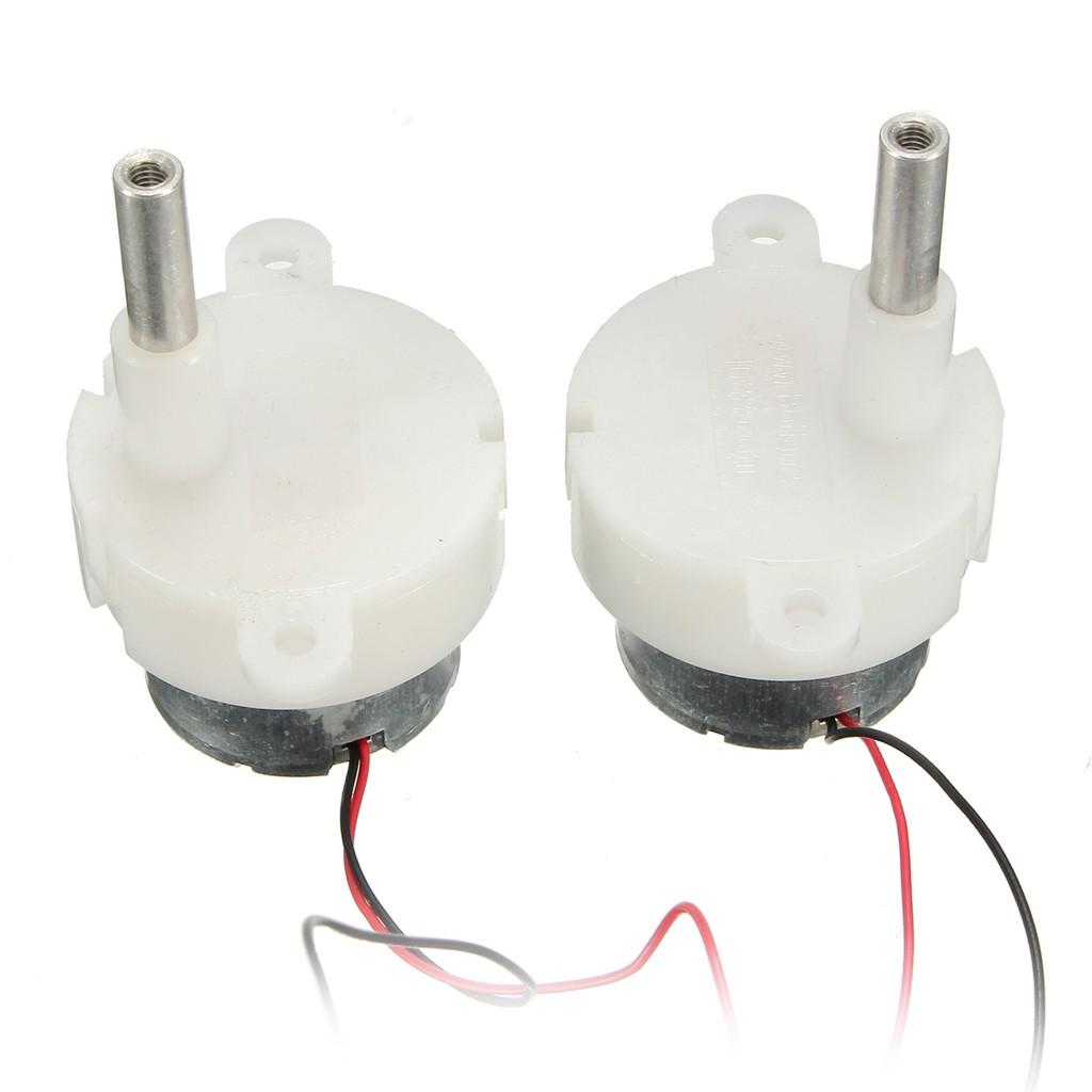 2x Miniature motors 130 long axis of the carbon brush motor Wind Turbines 3V-6V