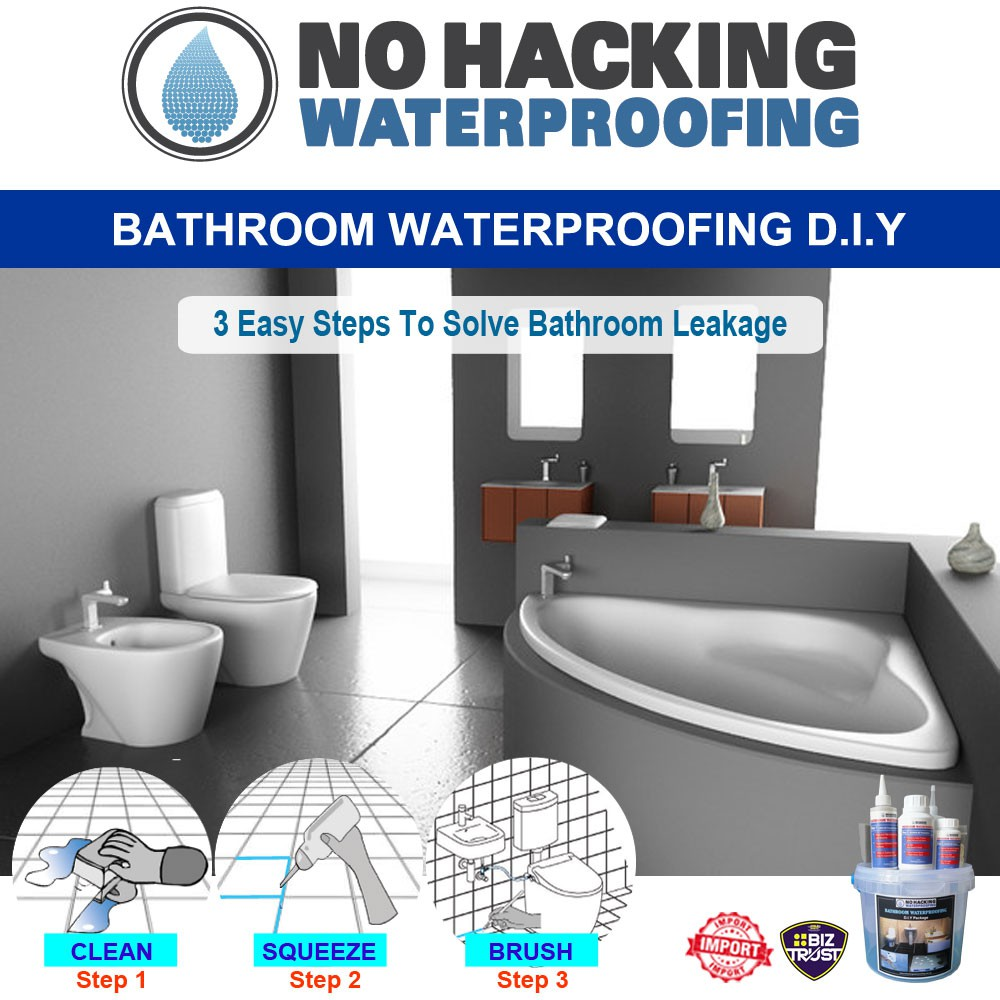 Waterproofing Floor Penetration Sealer DIY Set - Bathroom ...