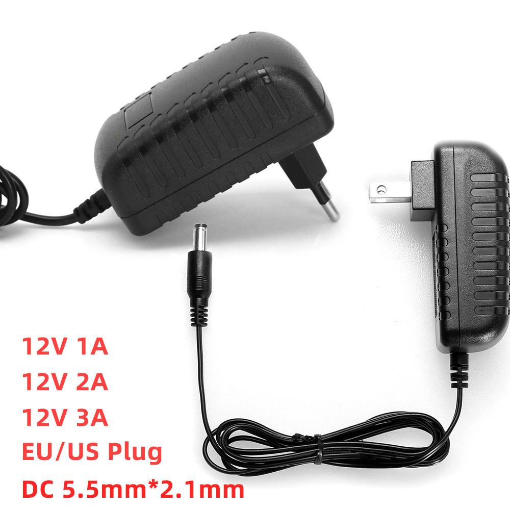 Ac 100 240v Power Adapter 12v 1a 2a 3a Adapter Led Light Strips Power Supply Charger Adaptor Eu Plug Us Plug Ac Dc Adapter Shopee Malaysia