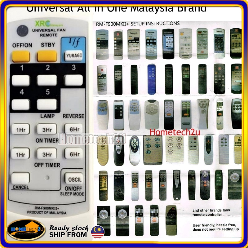 [2019 NEW Upgraded] Universal Fan Remote Control For Malaysia & Singapore  Brand