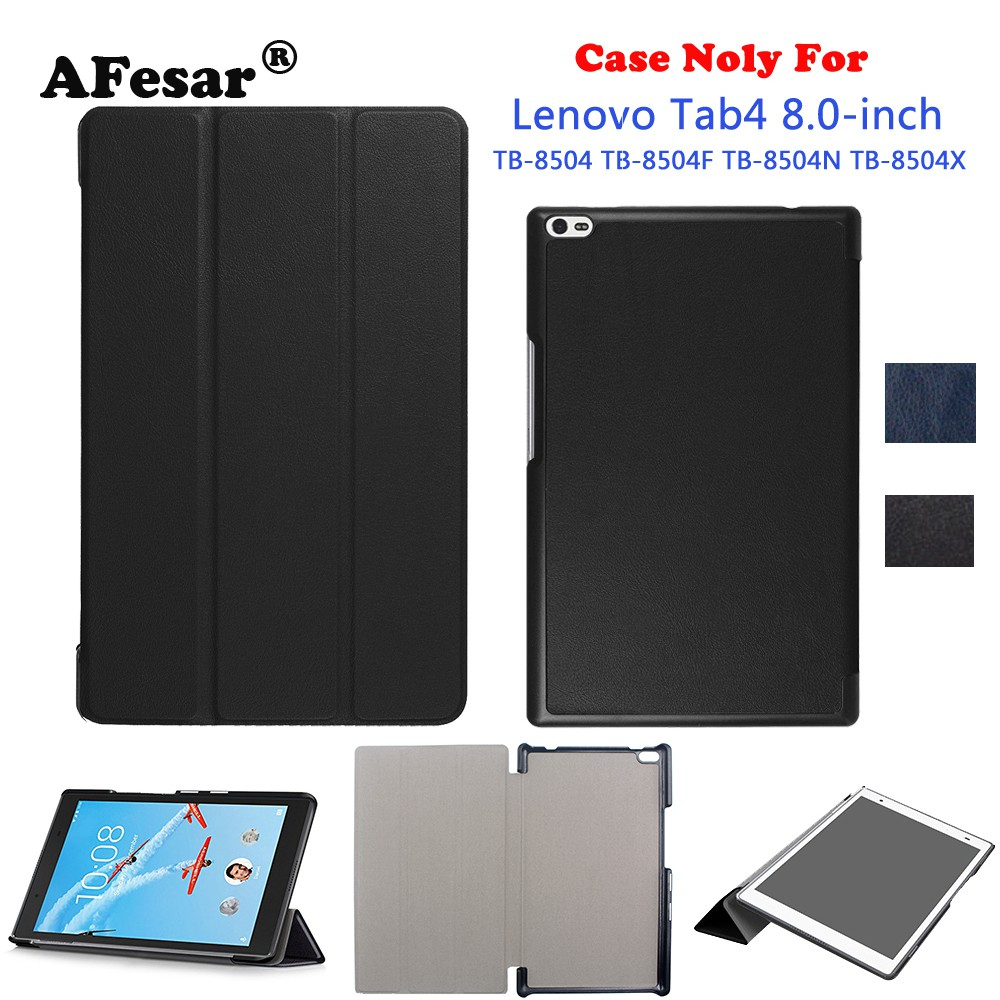sports shoes 41c4f 29859 Lenovo TAB4 Tab 4 8 TB-8504F 8504N 8504X tablet pu leather Case with stand