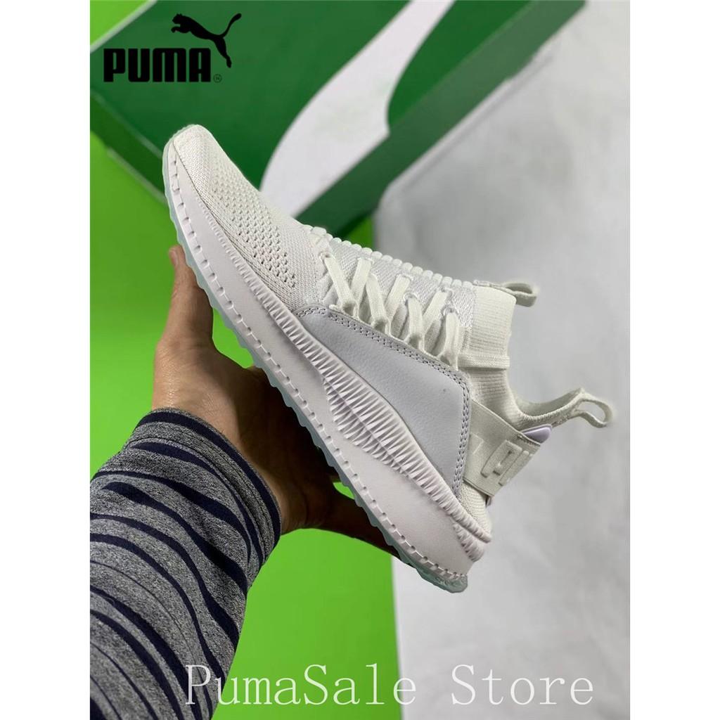 1a95434a6256 PUMA TSUGI JUN CUBISM Men And Women Knit Sock Shoes 365489 01 Ignite  Sneakers Black Color Woven Badminton Shoes Size Eur
