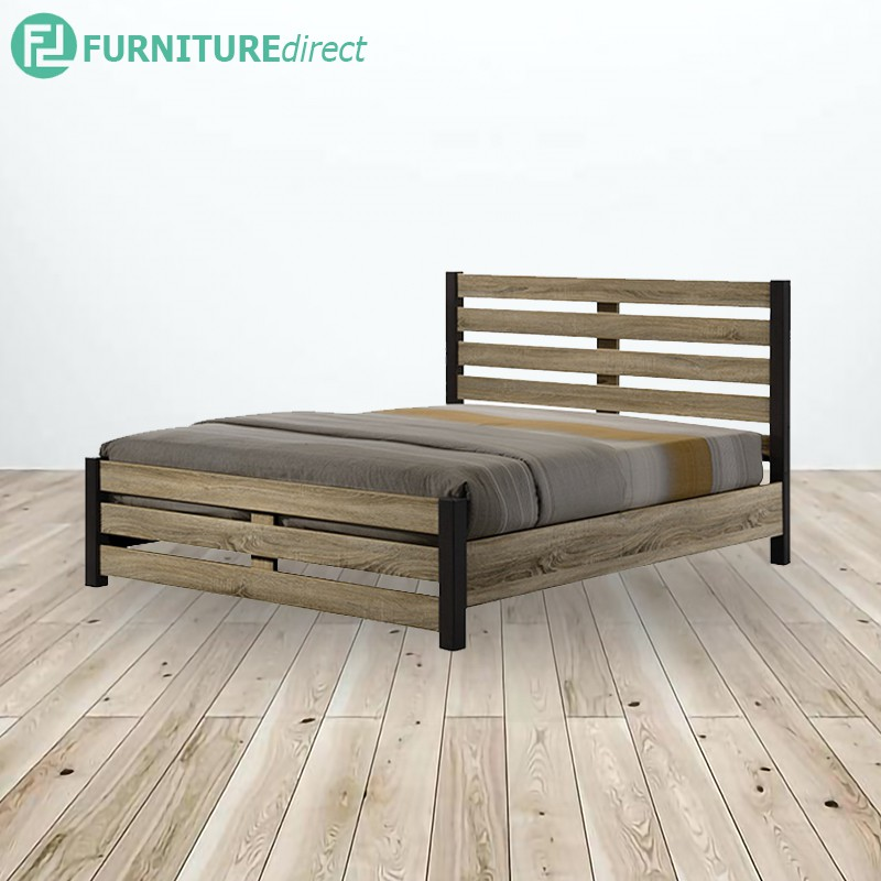 MP1-QB Wooden Queen Size Bed Frame / Katil queen/ katil queen murah/ katil queen ikea/ katil queen kayu
