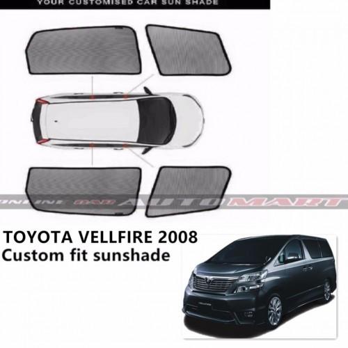 Custom Fit OEM Sunshades/ Sun shades Toyota Vellfire Year 2008-2014 - 6pcs