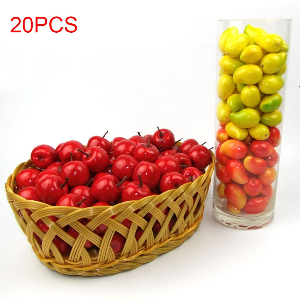 10Pcs//Set Miniature Fruit Vegetable Kitchen Artificial Home Decor Kitchen Toy