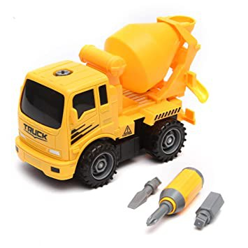 DIY Mixer Truck Toys and Toolbox included