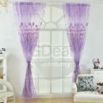 GDeal Ring Beautiful Flower Window Curtain Living Room Screen Home Decor Curtains Langsir  (100 x 200CM)