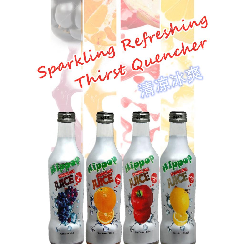 Hippop Sparkling Fruit Drink Set (4 x 275ml)